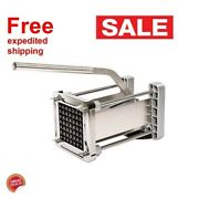Heavy Duty French Fry Cutter Commercial Restaurant Potato Blades Stainless Steel