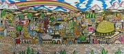 Charles Fazzino Rainbow Over Jerusalem Sold Out Limited Edition 3-d