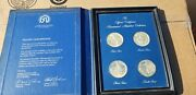 Solid Sterling Silver Proof Coins Qty 4 Coins As Shown