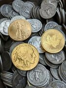 Gold And Silver Estate Sale - 1oz. Gold Bullion And 100fv 90 Us Silver Coins 💎