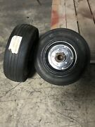 Tire 4.00-8 Wheel Combo, Solid Rubber Industrial Tire, Bearing Hub Military