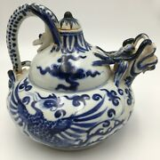 Antique Or Vintage Chinese Teapot - Ming Or Ming-style Design - Dragon And Snake