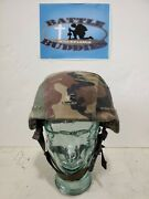 Msa Gallet Tc 2000 Lo9 Bvt Ach Mich Helmet Large 2003 With Reversible Cover.