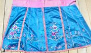Antique Chinese Silk Embroidered Partial Skirt Fragment 36 By 64 Dye Transfer