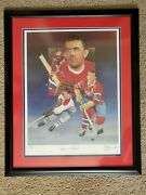 18 X 24 Christopher Paluso Autographed Maurice Richard Lithograph - Framed