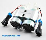 Twin 450lph E85 Electric Fuel Pump In-tank Universal High Flow Install Kit Efi