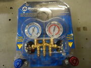 Mastercool 84772 R134a 2-way Manifold W/ Service Couplers And Charging Hoses