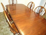 Vintage Pennsylvania House Solid Cherry Dining Table W/6 Chairs Late 1970s