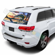 Fishing Decals Rear Window See Thru Stickers Perforated For Jeep Grand Cherokee