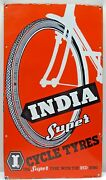 Cycle Tyre Sign Advertise India Super Vintage Porcelain Enamel Rare Collectibles