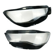Headlight Lens Covers Set Fit For Audi A6 C7 2015 2016 2017