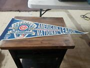 Vintage 1990 All Star Game Chicago Cubs Wrigley Field Souvenir Pennant