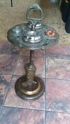 Vintage Cigar Ashtray Stand Horse Head Ornate Pipe Tobacco Western Cowboy Boot