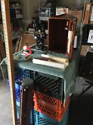 Vintage Gurley Transit With Box/stand And Stick Plus Extra's