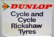 Dunlop Tire Advertise Sign Vintage Tin Cycle And Cycle Rickshaw Tyre Collectib5