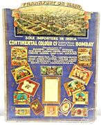 Frank Fort On Main Germany Vintage Sign Advertising Cardboard Collectibles Rare