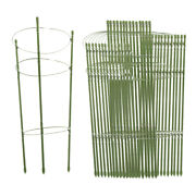 10/15pcs Plant Climbing Support Cage Tomato Rack Stake Frame W/ 3 Rings