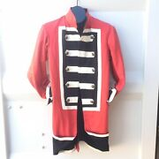 Sargent Peppers Jacket X Revolutionary War Fusion Coat Size Large Red And Black