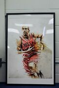 Michael Jordan And Renowned Artist Jeremy Kyle Autographed Limited Edition Print