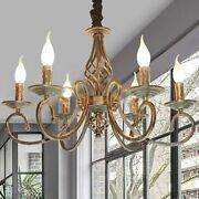 6 Light Chandeliers French Country Vintage Chandelier Antique Bronze Pendant New