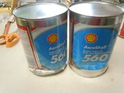 Aeroshell 560 Turbine Engine Oil -lot Of 2- New Stock Dented Cans. See Pictures