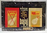 Lamp Lantern Vintage Tin Sign Litho Print Advertise Bulb Electric Collectibles2