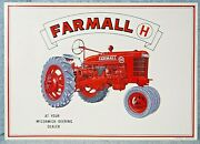 Mccormick Deering Farmall H Tractor Embossed Aaa Sign Co 1991