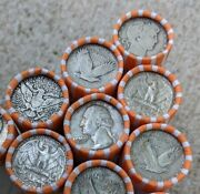90 Silver Quarter Roll - 10 Old Us Coin Lot Mixed Date Pds 40 Quarter Coins