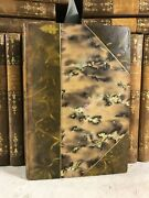 Complete Works Of Guy De Maupassant Antique Leather Bound Books Set Decor French