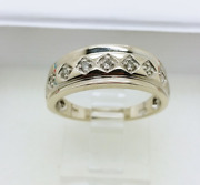 14kt White Gold Ring Diamonds Antique Size 7.5 Moris Jewelry Group