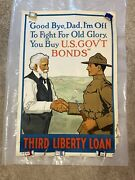 Andldquogood Bye Dad Iand039m Off To Fight For Old Gloryandrdquo Original Wwi Poster 1918