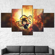 Luffy One Piece Anime Canvas Framed 5 Pcs Wall Art Poster Decor