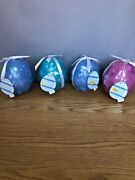 Hallmark Easter Egg Candle Set 4 Vintage Collectible Embossed Egg Candles Unique