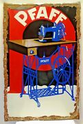 Pfaff Sewing Machine Sign Advertise Vintage Porcelain Enamel Germany Collectible