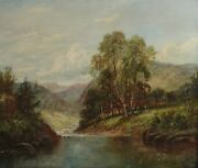 Benjamin Williams Leader English 1831 - 1923 Oil Painting On Canvas Landscape
