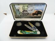 Case Cutlery American Bison And Buffalo Nickles W/ Knife
