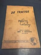 Caterpillar Tractor Book D8 Tractor Parts Catalog Vintage 8r1 To 8r9999 Sh7