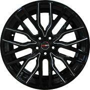 4 Flare 20 Inch Black Mill Rims Et20 Fits Chevy Equinox 2005 - 2009 2018 - 2020