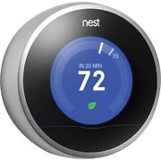 Replacement Part Nest 2nd Generation Learning Thermostat Stainless Steel Read B