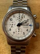 Mens Fortis B-42 Flieger Gmt 637.10.172 Automatic Chronograph S Steel Watch