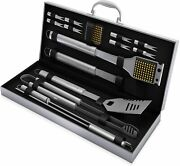 Home-complete Stainless Steel 16-pieces Bbq Grill Tool Set With Aluminum Case