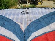 Ozone Rush 3 L Paragliding Wing 24.5 M Blue And Red And In Great Shape With Bag