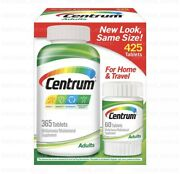 Centrum Adults Under 50 425 365+60 Tablets For Men And Women Free Shipping