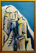 Fay Singer - Greek Town By The Aegean Sea -oil Painting