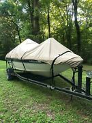 Lifetime Warranty 16 Oz 23-24and039 Vhull/runabout Boat Cover Cypress Rowe Outfitters
