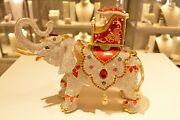 Rucinni Elephant Trinket Box Crystallized With 7.5 Inches Tall