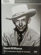Hank Williams The Lonesome Heart Of Country Aande/biography Dvd Rare