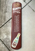 Rummy Grapefruit Soda Sign Thermometer