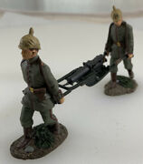 W. Britain Toy Soldiers Marching W/machine Gun 130 Scale 2006 - Wbwi 28 And 29