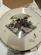 1975 Norman Rockwell Four Seasons Collector 4 Plates Limited Edition Boxed
